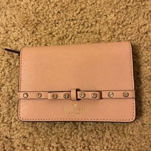 Blush pink Kate spade wallet